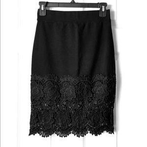 Haute Monde Lace Pencil Skirt